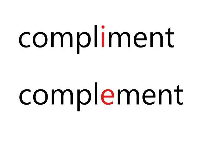 complimentとcomplementの違いについて:語い