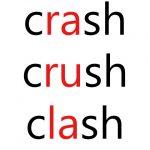 crashとcrushとclashの違いについて:英文法