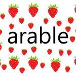 arableの意味と類義語:語彙