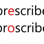 prescribeとproscribeの違い:語彙